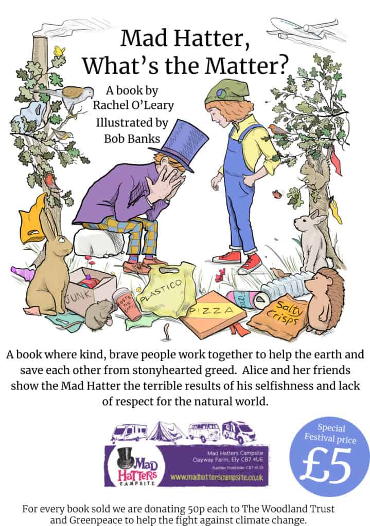 cover of 'Mad Hatter, What's the Matter?' book, a story told for Mother Earth